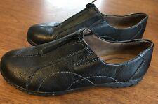 Natural Soul By Naturalizer Redeem Leather Black Slip On Loafer Shoe Size 10 M