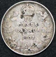 1903 H | Canada 10 Cents | Silver | Coins | KM Coins