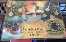 Canada 1999 Millennium Set Of 12 Coins 25 Cent Coins Complete Set.