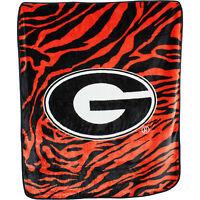 Georgia Bulldogs Super Soft Raschel Throw Blanket, 50 x 60 inch