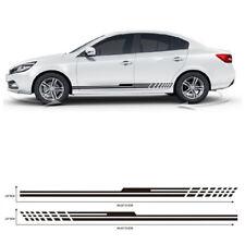 1Pair Durable Stylish Racing Car SUV Door Vinyl Sticker Long Stripe Decals Decor