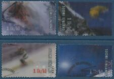 Finland 2008 Used - Alpine Skiing Snowboarding - Lenticular Motion Print Stamps