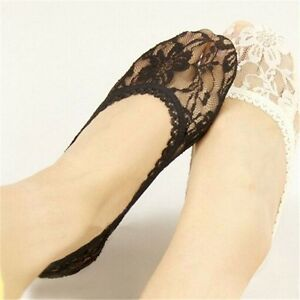 1-5 PAIRS of Lace Antiskid Invisible Liner No Show Low Cut Ankle Socks for Women