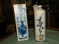 Bols Empty Liqueurs in a Blue Delt Decanter with cork and a cork top and origina