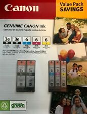 New SEALED canon 3e 6 306365 pixma ink cartridges value pack i560 ip3000 mp750
