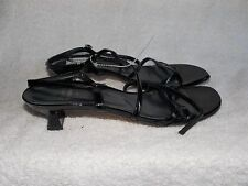 Stuart Weitzman Black Leather Strappy Heels 7M For Women Used