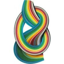 3mm QUILLING PAPERS IN SPRING COLOURS 175 in TOTAL 450mm LONG ACID FREE AP4B