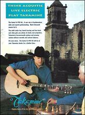 Mark Chesnutt 1994 Takamine Santa Fe PSF-94 guitar ad 8 x 11 advertisement print