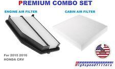 OEM QUALITY COMBO AIR FILTER + CABIN FILTER SET for 2015 2016 HONDA CRV CR-V
