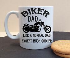 BIKER DAD PERSONALISED CERAMIC MUG PERFECT BIKER BIRTHDAY FATHERS DAY GIFT