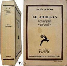 Le Jordaan 1932 Israël Quérido Rieder édition originale n°50 préf Henri Barbusse