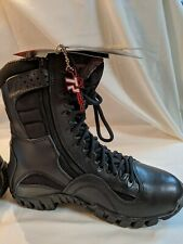 Forced Entry Black Side Zipper Tactical Deployment Boot-Military SWAT Boots Sz-6