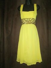 Yellow Summer Sequin Party Dress by Todays Woman ....Size 12