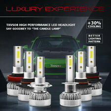 H7 LED Headlight 55W 8000LM 6000K Super Bright Bulbs Conversion Kit Hi/Lo Beam