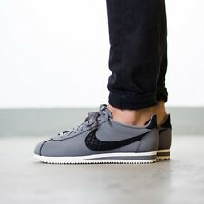 UK 8.5 Men's Nike Classic Cortez Leather SE Grey Black Trainers EUR 43 US 9.5