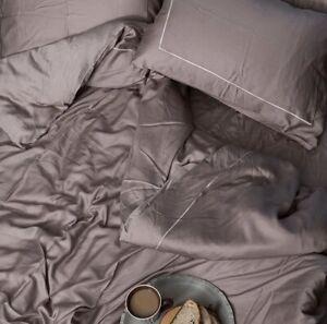 Chakra 100% BAMBOO Silky Soft Duvet Cover Set 6 Pcs Frame Embroidered Bedding