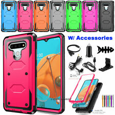 For Lg Lg K51/Q51/Reflect Phone Case Shockproof Rubber Hard Cover with Accessory