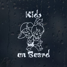 Kids On Board Funny Boy And Girl Car Decal Vinyl Sticker For Bumper Window Panel