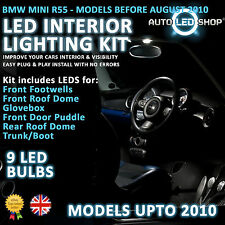 BMW MINI R56 >2010 LED INTERIOR COMPLETE FULL KIT SET BULB XENON WHITE COOPER S