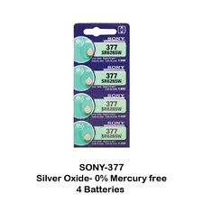 Sony SR626SW (377) 1.55V Silver Oxide Watch Batteries (4 cells) 0%Hg