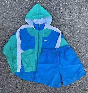 VIntage 90s Women's Nike Color Block Jacket and Shorts Tracksuit set pants