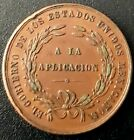 1892 INSTRUCCION OBLIGATORIA Mexico medal A LA APLICACION E.U.M. Very Nice! AU