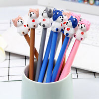 6pcs Cute Cartoon Kawaii Colorful Dogs Gel Ink Roller Ball Point Pen School Kids