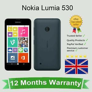 Unlocked Nokia Lumia 530 Microsoft Windows Dual Sim Smart Phone 4GB Dark Grey