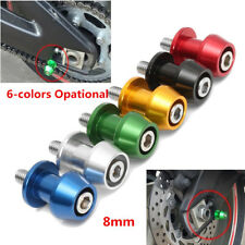 2pcs Universal Motorcycle Bike CNC Swing Arm Spool Slider Stand Screw Bobbin 8mm