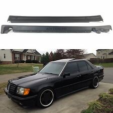 Mercedes Benz W124 Sedan Touring AMG Style Side Skirts Aprons Trims Addon Set