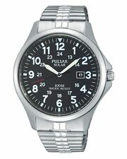 PULSAR PX3069 MENS SOLAR Large number WATCH w/ DATE