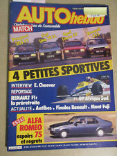 AUTO HEBDO: n°494: 24/10/1985: PEUGEOT 205 XT - UNO 70 SL - CORSA GT - R5 TS -75