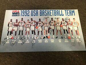 1992 Olympic USA Basketball Dream Team NBA Poster Jordan Bird Magic-  10x18