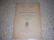 1938.théorie abstraite de la notion de l'ordre des figures réelles / Linsman