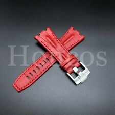 28MM Alligator Leather Watch Band Strap Fits For AP Audemars Piguet Red 42 USA
