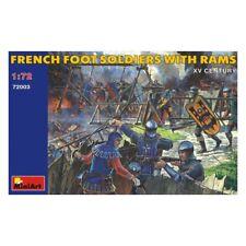 Miniart 72003 soldados franceses pie con Rams Siglo XV figuras 1/72 Escala