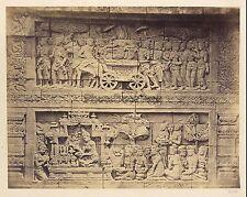 Borobudur Java Indonésie Photo Isidore van Kinsbergen Pays-Bas Vintage 1873