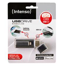 CLE INTENSO USB 3.0 64Go POUR PC+ APPLE IPHONE IPAD IPOD et connecteur lightning