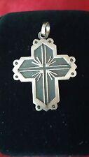Vintage 950 silver cross pendant. Mexico