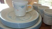 Corelle Dinnerware set Symphony Corelle by CORNING service for 6 Plates 5 Cups