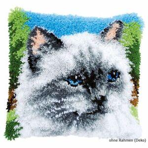 Vervaco Knüpfkissen Silver Cat