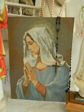 Old Vintage 2-sided Paint by Numbers Painting~Jesus & Virgin Mary