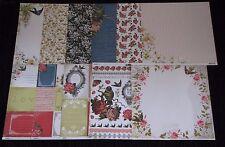 "Kaisercraft 'PORCELAIN ROSE' 12x12"" Paper Kit Floral KAISER **Clearance 1 Left**"