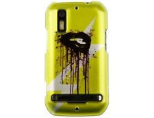 Hard Plastic Protector Case Cover with Yellow Lip Design for Motorola Photon