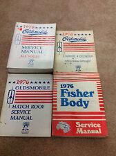 1976 Oldsmobile Olds Models Service Shop Repair Manual Set OEM W Supplement +