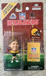 NEW Corinthian NFL Throwbacks Headliners Figure Brett Favre Green Bay Packers