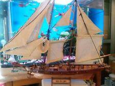 Model Sailboat Wooden DIY 1/100 Scale Kits Laser Cut Ship Decoration Self Build