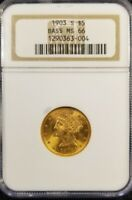 1903 S $5 MS66 Bass Collection Legendary collector