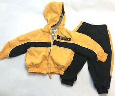 Nfl Steelers Tracksuit Windbreaker Jacket Toddler Size 18 Month Guc Yellow Black