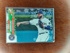 2020 Topps Holiday Metallic Snowflake Parallel #HW179 Ronny Rodriguez Brewers